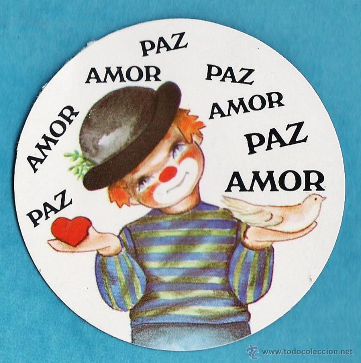 Adhesivo Pegatina Payaso Con Frase Amor Comprar Pegatinas