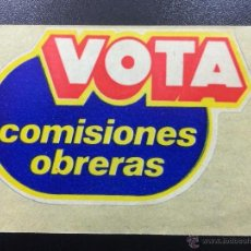 Pegatinas de colección: ADHESIVO PEGATINA POLÍTICA SINDICAL CCOO VOTA COMISIONES OBRERAS.. Lote 46245037