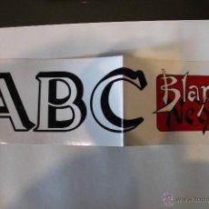 Pegatinas de colección: PEGATINA ABC BLANCO Y NERO. Lote 46344945