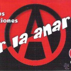 Autocollants de collection: PEGATINAS POLITICAS - 1 PEGATINA POLITICA CNT-AIT - A POR LA ANARQUIA. Lote 171272202