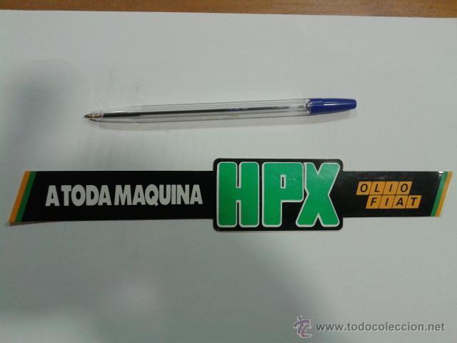 Pegatina Hpx Olio Fiat