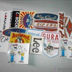 Pegatinas de colección: LOTE DE PEGATINAS MARCAS DE ROPA. Lote 47022412