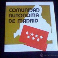 Pegatinas de colección: PEGATINA COMUNIDAD AUTONOMA MADRID 9,5 CMS . Lote 47187542