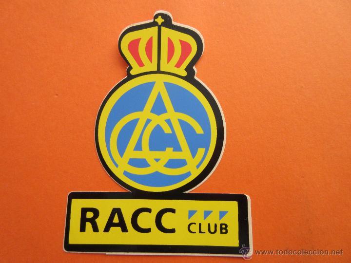 PEGATINAS - ADHESIVOS - RACC REAL AUTOMOBIL CLUB CATALUNYA (Coleccionismos - Pegatinas)