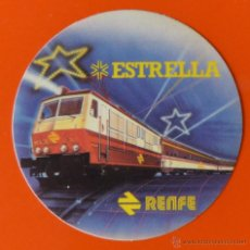 Pegatinas de colección: RENFE - ESTRELLA - PEQUEÑO ADHESIVO O PEGATINA DE TREN. Lote 48156586