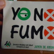 Pegatinas de colección: ANTIGUA PEGATINA YO NO FUMO , JUNTA DE ANDALUCIA. Lote 48165081