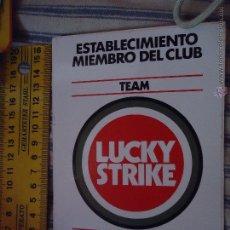 Pegatinas de colección: ANTIGUA PEGATINA PUBLICITARIA O CROMO PUBLICITARIO - TABACO LUCKY STRIKE. Lote 49697909