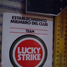 Pegatinas de colección: ANTIGUA PEGATINA PUBLICITARIA O CROMO PUBLICITARIO - TABACO LUCKY STRIKE. Lote 49698383