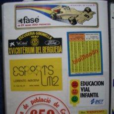 Autocollants de collection: ADHESIVOS - PEGATINAS - HOJA Nº 59 DOBLE CARA ADHESIVOS DE COLECCIONISMO (ADHERIDOS). Lote 50094357