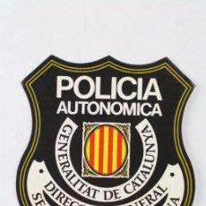 Pegatinas de colección: PEGATINA / ADHESIVO - POLICÍA AUTONÓMICA GENERALITAT DE CATALUNYA. DIRECCIO GENERAL - 10,5 X 9 CM. Lote 50150631