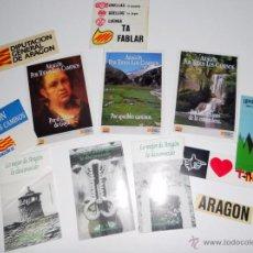 Pegatinas de colección: LOTE 13 PEGATINAS ANTIGUAS AÑOS 80. PUBLICIDAD ARAGON.TURISMO. DGA. DIRECCION GENERAL DE ARAGON.. Lote 50239935