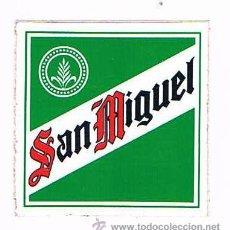 Pegatinas de colección: PEGATINA ANTIGUA CERVEZA SAN MIGUEL. Lote 50949177