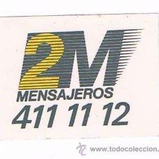 Pegatinas de colección: PEGATINA ANTIGUA 2M MENSAJEROS. Lote 50949184