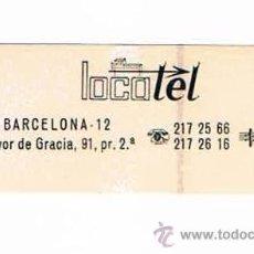 Pegatinas de colección: PEGATINA ANTIGUA LOCOTEL BARCELONA. Lote 50949190
