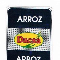 Pegatinas de colección: PEGATINA ANTIGUA ARROZ DACSA. Lote 50949491