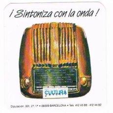 Pegatinas de colección: PEGATINA ANTIGUA SINTONIZA CON LA ONDA CULTURA JUVENTUT BARCELONA. Lote 50949669