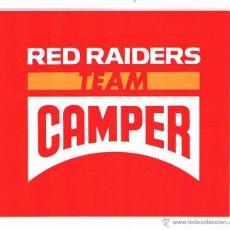Pegatinas de colección: PEGATINA ANTIGUA CAMPER RED RAIDERS TEAM. Lote 50959658