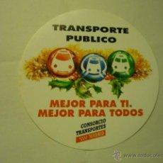 Pegatinas de colección: PEGATINA CONSORCIO TRANSPORTES MADRID-TRANSPORTE PUBLICO. Lote 51549046