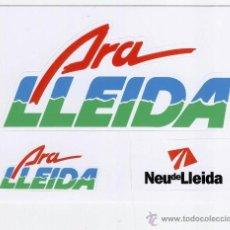 Pegatinas de colección: PEGATINAS, ADHESIVOS *ARA LLEIDA* NEU DE LLEIDA. Lote 63586910