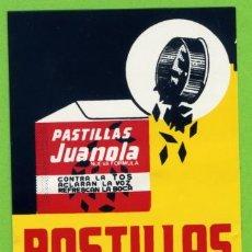 Pegatinas de colección: ADHESIVO - PEGATINA - PASTILLAS JUANOLA. Lote 119371804