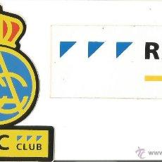 Pegatinas de colección: DOS PEGATINA RACC CLUB REAL AUTOMOBIL CLUB CATALUNYA2,. Lote 52363389
