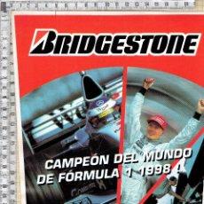 Pegatinas de colección: ADHESIVO PEGATINA BRIDGESTONE CAMPÉON DEL MUNDO DE FORMULA I 1998-MIKA HAKKINEN.. Lote 52486373