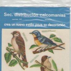 Adesivi di collezione: CALCOMANIAS DECORACIÓN ORTEGA *** SERIE FAUNA -2 PAJAROS. Lote 52737414