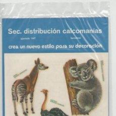 Pegatinas de colección: CALCOMANIAS DECORACIÓN ORTEGA *** SERIE FAUNA - 10. Lote 52737545