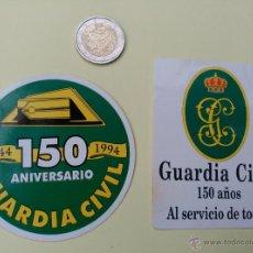 Pegatinas de colección: 2 PEGATINAS. 150 ANIVERSARIO DE LA GUARDIA CIVIL. 1994. Lote 53145393