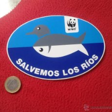Pegatinas de colección: PEGATINA ADHESIVO STICKER POLITICA REIVINDICATIVA ECOLOGIA ECOLOGISMO SALVEMOS LOS RIOS WWF IDEAL CO. Lote 53567031