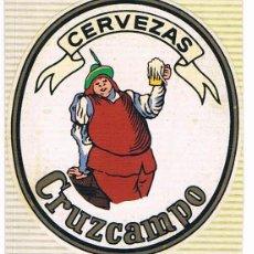 Pegatinas de colección: PEGATINA ANTIGUA CERVEZAS CRUZCAMPO. Lote 53621352