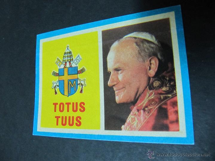 PEGATINA ADHESIVO TOTUS TUUS. VISITA DE JUAN PABLO II A ESPAÑA. (Coleccionismos - Pegatinas)