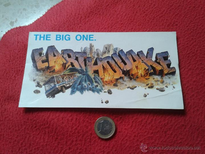 PEGATINA ADHESIVO STICKER THE BIG ONE EARTHQUAKE THE BIG ONE UNIVERSAL STUDIOS TOUR TERREMOTO ? IDEA (Coleccionismos - Pegatinas)