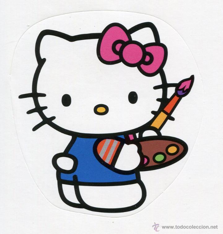 Pegatina Hello Kitty Pintora Mira Mis Otras Pe Sold Through