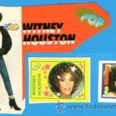 Pegatinas de colección: LOTE 3. ADHESIVO PEGATINA. WITNEY HOUSTON. SUPER POP. AÑOS 80. MUSICA SOUL. BLUS.... Lote 54751392