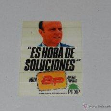 Pegatinas de colección: (1137) PEGATINA POLITICA VOTA AP ALIANZA POPULAR PDP. Lote 54787568