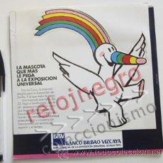 Pegatinas de colección: PEGATINA CURRO Y DÍPTICO PUBLICIDAD DE LA EXPO'92 MASCOTA EXPOSICIÓN UNIVERSAL 1992 EXPO 92 SEVILLA. Lote 55088084