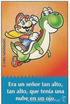 CHISTE SUPER MARIO BIMBO 1.993 Nº 22 (Coleccionismos - Pegatinas)