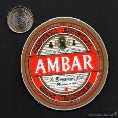 Pegatinas de colección: PEGATINA, CERVEZA ESPECIAL AMBAR. Lote 55754402