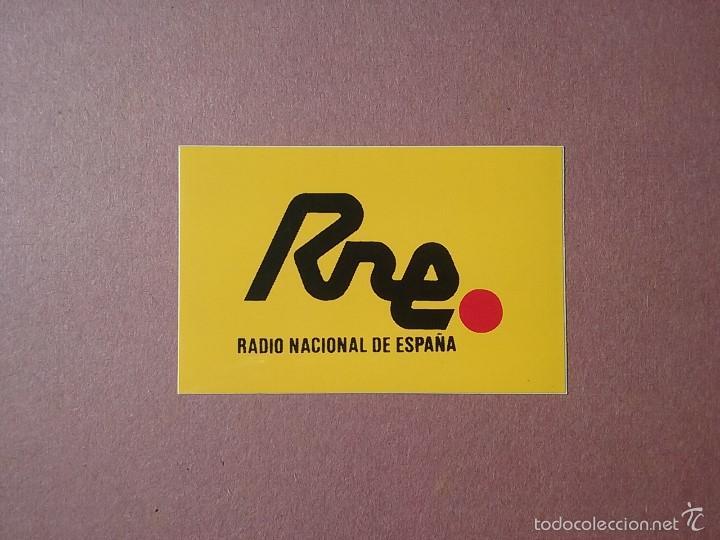 PEGATINA RNE. RADIO NACIONAL DE ESPAÑA. 4,5 X 7 CM. (Coleccionismos - Pegatinas)