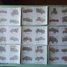 Pegatinas de colección: 9 CALCOMANÍAS ORTEGA,ANTIGUAS. TAMAÑO 11X15,5 CM. APROX. COCHES LOTE. Lote 56550887