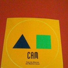 Pegatinas de colección: PEGATINA ANTIGUA CAJA DE AHORROS CAM CAJA DE AHORROS DEL MEDITERRANEO,TROQUELADA REDONDA.. Lote 57018010