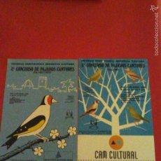 Pegatinas de colección: PEGATINAS CONCURSO DE PAJAROS CANTORES,(SILVESTRES) ORNITOLOGIA 4º Y 5º CONCURSO DE ELCHE 1988-89. Lote 57018335