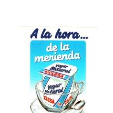 Pegatinas de colección: A LA HORA DE LA MERIENDA YO PREFIERO YOGUR CLESA PEGATINA GRANDE. Lote 57381425