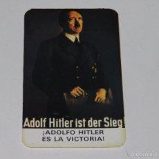 Pegatinas de colección: (15) PEGATINA POLITICA - ADOLFO HITLER ES LA VICTORIA. Lote 57471010