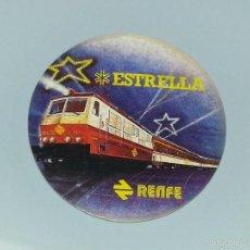 Pegatinas de colección: ANTIGUA PEGATINA PUBLICITARIA DE RENFE - TREN ESTRELLA - AÑOS 80. Lote 57592217