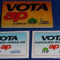 Pegatinas de colección: VOTA AP. Lote 57685810