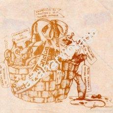 Pegatinas de colección: ESPECTACULAR PEGATINA POLITICA, PACTO DE LA MONCLOA, AÑOS 70,155X140MM. Lote 69856114