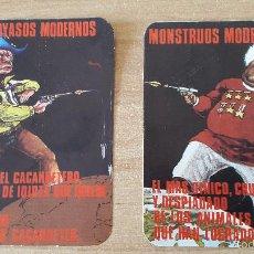 Pegatinas de colección: 2 PEGATINAS POLITICAS. CARICATURAS. MONSTRUOS MODERNOS - PAYASOS MODERNOS. Lote 58243256