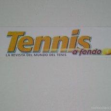 Pegatinas de colección: TENNIS LA REVISTA MUNDIAL DEL TENIS PEGATINA PUBLICIDAD. Lote 58260129